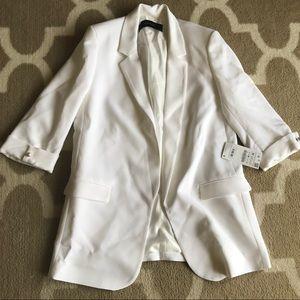 NWT Zara Long Blazer, white